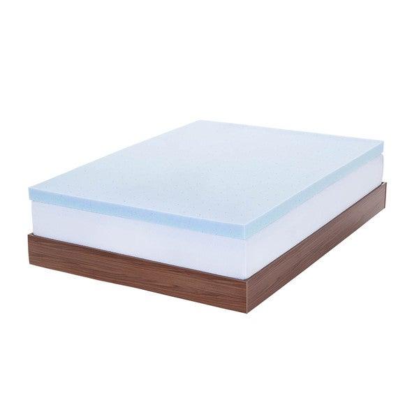 LUCID 3 inch Gel Memory Foam Mattress Topper Free