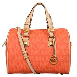 Michael Kors Medium Grayson Tangerine Satchel Handbag