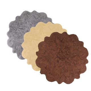 Sherry Kline Over Tufted Petals Cotton 32-inch Round Bath Rug (Set of 2)