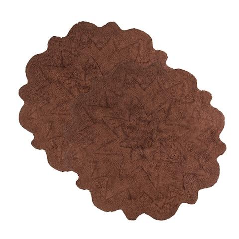 Sherry Kline Over Tufted Petals Cotton 32-inch Round Bath Rug (Set of 2)