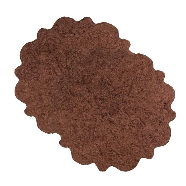 sherry kline over tufted petals cotton 32-inch round bath rug (set