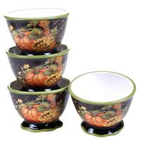 Certified International Botanical Harvest Ice Cream Bowl (Pack of 4)
