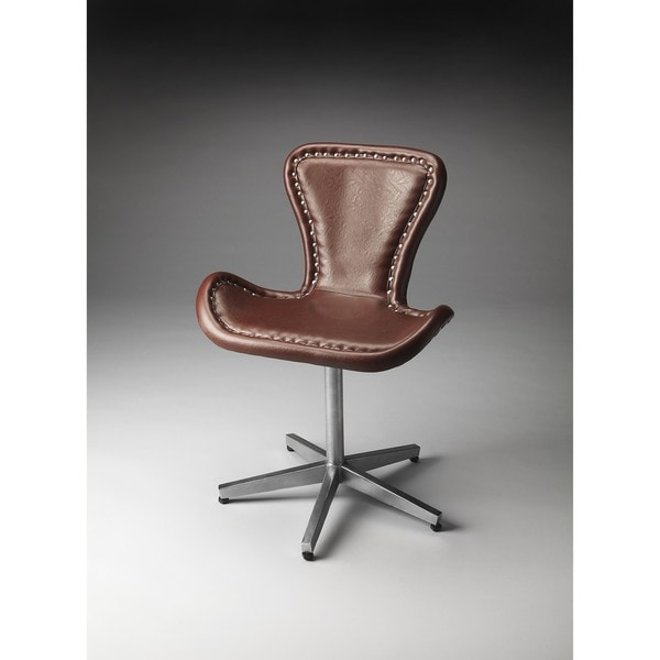 Butler Midway Aviator Black Brown Accent Chair Free