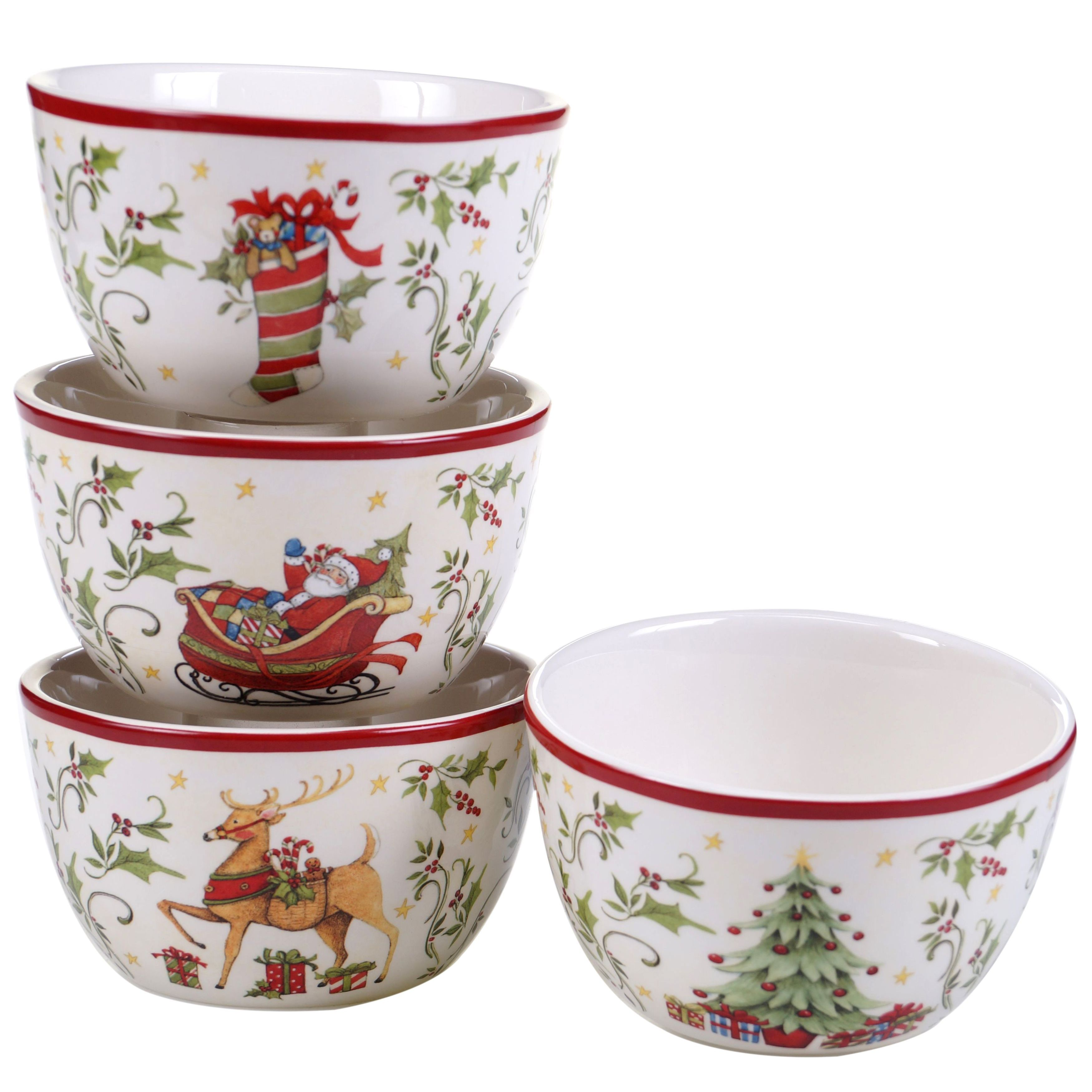 Certified Intl Christmas-themed Multicolored Ceramic Ice ...