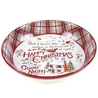 Certified International The Night Before Christmas Ceramic Serving or Pasta Bowl