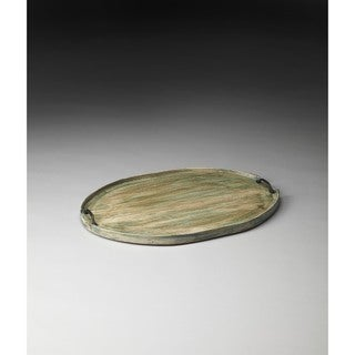 Butler Dubois Aged-Green Solid Mango Wood Serving Tray
