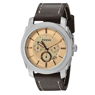 Fossil Men's FS5170 'Machine' Chronograph Brown Leather Watch