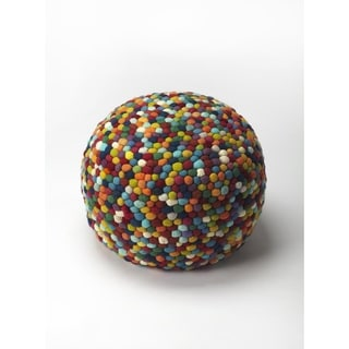 Handmade Felicity Multicolor Pouf (India)