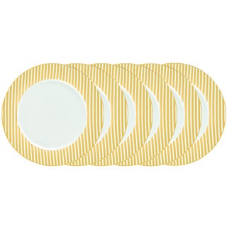 Certified International Elegance Goldplated 10.5-inch Dinner Plates (Pack of 6)