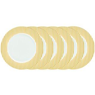 Certified International Elegance Goldplated 10.5-inch Dinner Plates (Pack of 6)