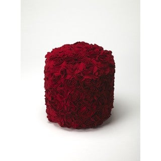 Butler Layla Red Floral Pouffe
