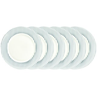Certified International Elegance Silver Plated 10.5-inch Dinner Plates (Pack of Six)