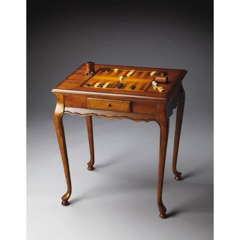 Handmade Butler Bannockburn 1694101 Olive Ash Burl Wood 29-inch x 22.5-inch x 31-inch Game Table (China)