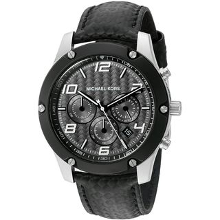 Michael Kors Men's MK8488 'Caine' Chronograph Black Leather Watch