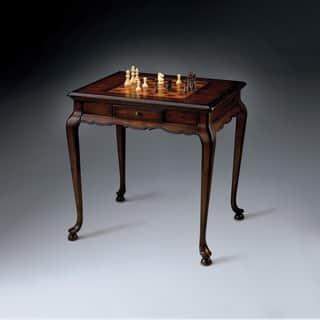 Butler Traditional Rectangular Game Table - Dark Brown