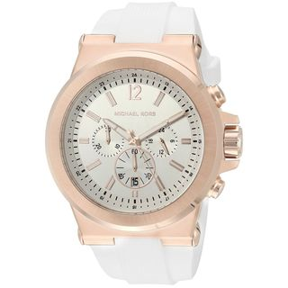 Michael Kors Men's MK8492 'Dylan' Chronograph White Silicone Watch