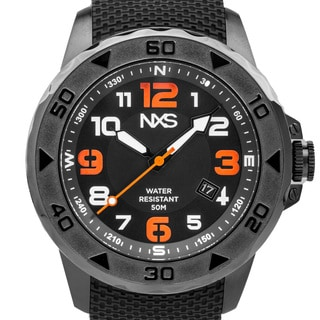 NSX Watches Torstein Men's Sport Watch. Bold Colored Luminescence, Textured Silicone Strap, Miyota 2315 Movement