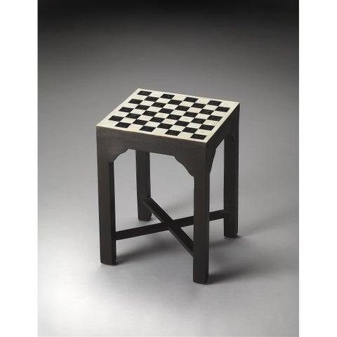 Handmade Butler Bishop Bone Inlay Bunching Chess Table (India)
