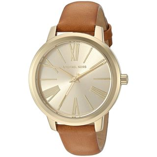 Michael Kors Women's MK2521 'Hartman' Brown Leather Watch