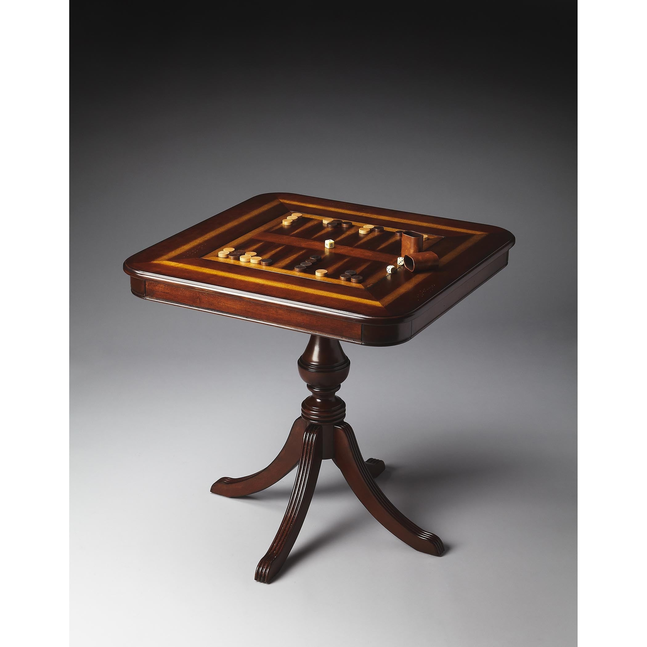 Butler Morphy Plantation Cherry (Red) Game Table (Dark Br...