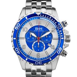 Brandt & Hoffman Pythagoras dive chronograph, Swiss Made Ronda movement, Sapphjire crystal, Superluminova, multi-link bracelet