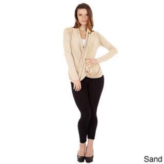 Women's Cris Cross Drape Front Pullover Top