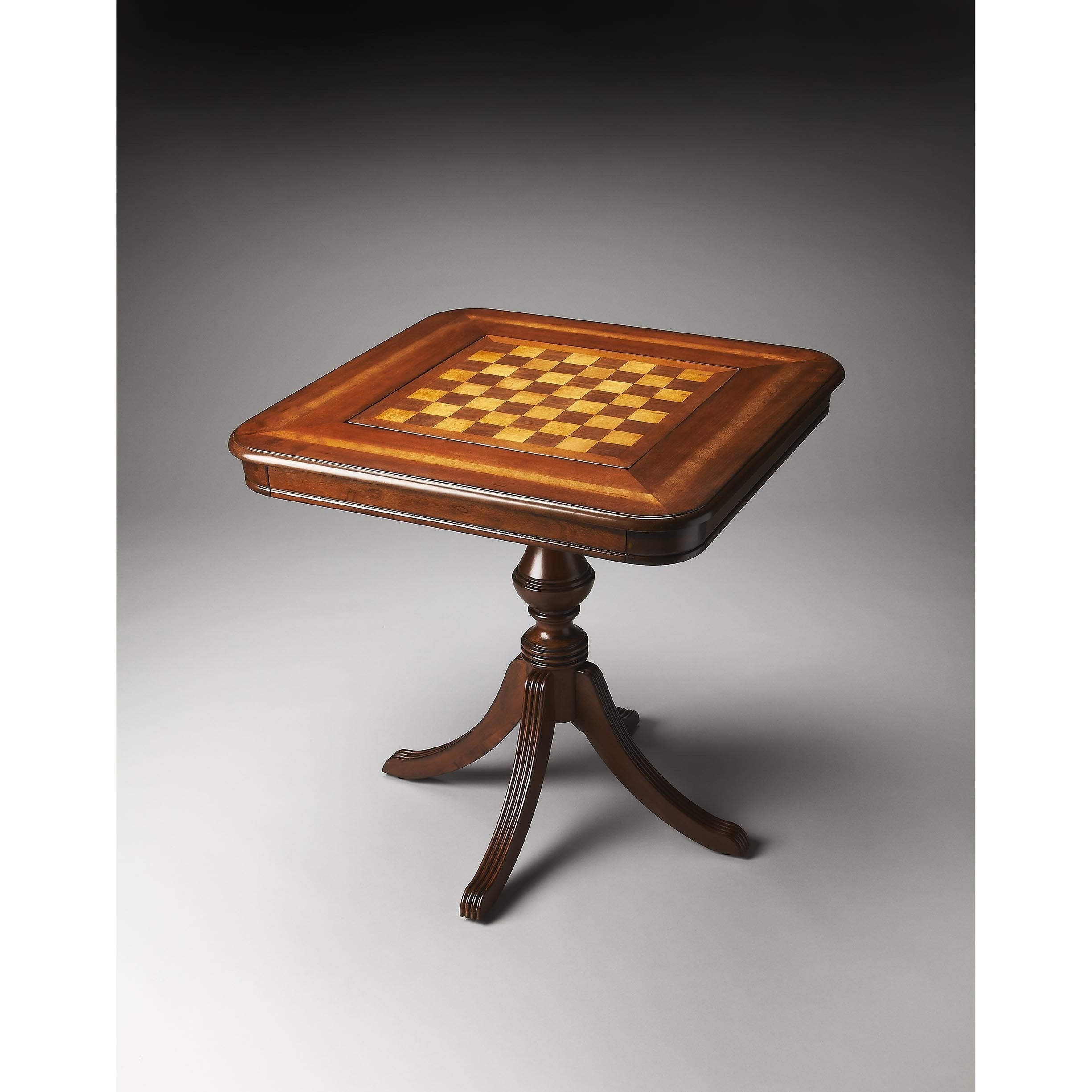 Butler Morphy Antiqued Cherry (Red) Game Table (Medium Br...