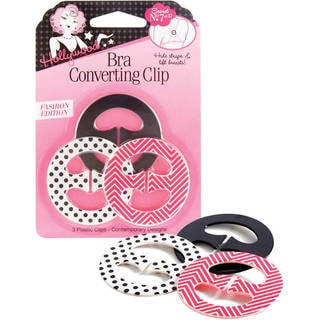 Hollywood Women's Black and Pink Polyester Bra Converting Clip (Pack of 3)
