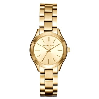 Michael Kors Women's MK3512 'Mini Slim Runway' Gold-Tone Stainless Steel Watch