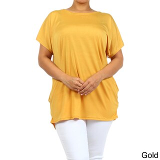MOA Collection Women's Polyester/Spandex Plus-size Solid Top (3 options available)