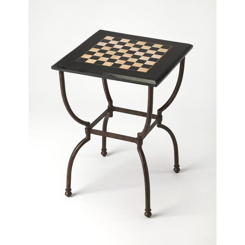 Butler Transitional Square Fossil Stone Game Table