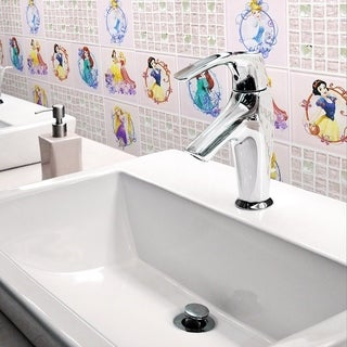 Disney 11.75x11.75-inch Princesses Sparkle Glass Mosaic Wall Tile
