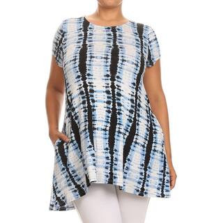 MOA Collection Women's Plus Size Tie-dyed Tunic|https://ak1.ostkcdn.com/images/products/12073070/P18940314.jpg?impolicy=medium