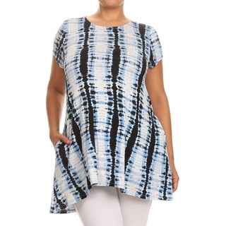 MOA Collection Women's Plus Size Tie-dyed Tunic (More options available)