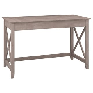 Bush Furniture Key West Collection Washed Grey Writing Desk