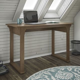 Bush Furniture Mission Creek Collection Rustic Brown Writing Desk