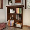 Bush Furniture Mission Creek Collection Antique Cherry Three-shelf Bookcase