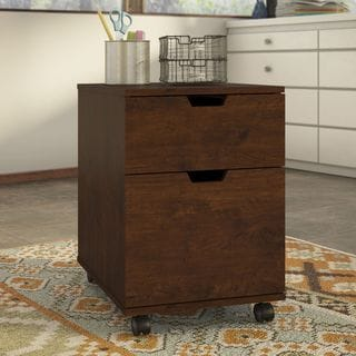 Mission Creek Collection Antique Cherry 2-drawer Mobile Pedestal