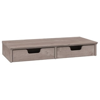 Bush Furniture Key West Collection Washed Grey Desktop Organizer with Drawers