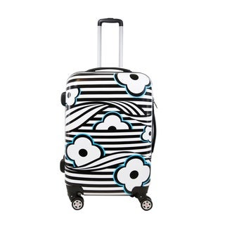 Ful Floral 20-inch Fashion Hardside Carry-on Spinner Upright Suitcase