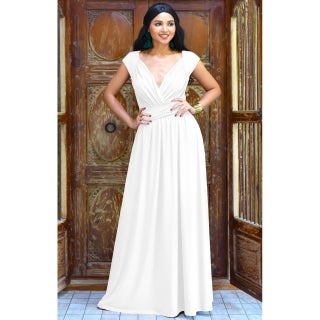 KOH KOH Women's Polyester/ Spandex V-cut Cocktail Evening Gown (More options available)