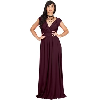 KOH KOH Women's Polyester/ Spandex V-cut Cocktail Evening Gown