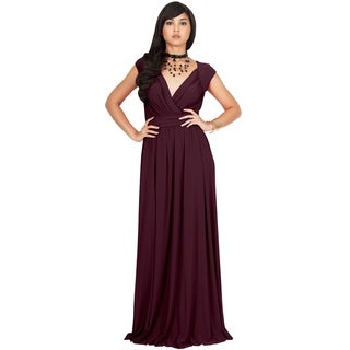 KOH KOH Women's Polyester/Spandex V-cut Cocktail Evening Gown