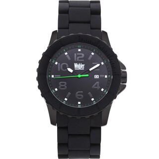 Wohler Wolfgang Men's Quartz Watch Silicone Coated IP Metal Bracelet and Bezel (More options available)