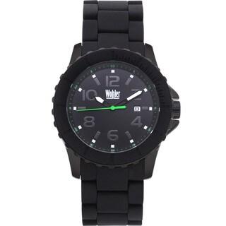 Wohler Wolfgang Men's Quartz Watch Silicone Coated IP Metal Bracelet and Bezel
