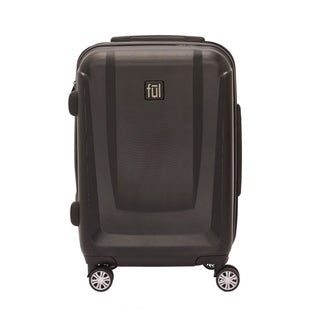 Ful Load Rider Series Black 20-inch Expandable Upright Spinner Carry-on Suitcase