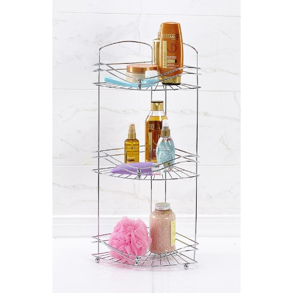 3 Tier Rust Resistant Corner Bath Shelf