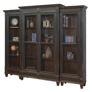 Hatherford Hand-rubbed Black Wall Bookcase