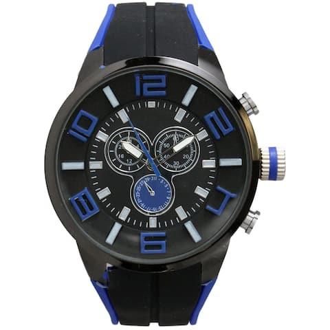 Olivia Pratt Men's 3-dial Classic Bulky Sport Watch