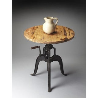 Butler Metalworks Black and Beige Wood and Metal Hall/Pub Table
